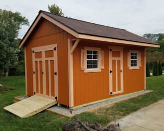 Amish Built Quaker Style Shed